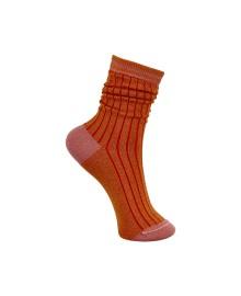 Black Colour Candy Stripe Sock Orange 4212OR
