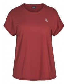 Zizzi ABASIC ONE, t-shirt A00053A Biking red