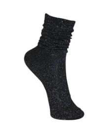 Black Colour Lurex sock black 4101BL