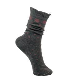 Black Colour Ruffle dot sock grey/rose 4132GR