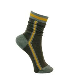 Black Colour Sporty stripe sock army 4149AR