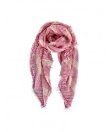Black Colour SELINA Striped Scarf Pink 208019PI