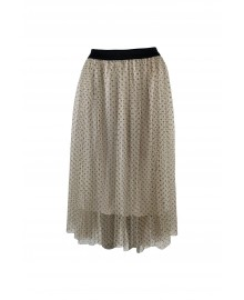 Black Colour KINE Skirt White With Polkadot 9808WH