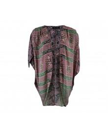 Black Colour LUNA Short Kimono Purple Mint 3747PM