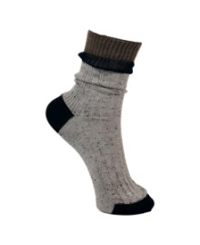 Black Colour COSY sock grey 4178