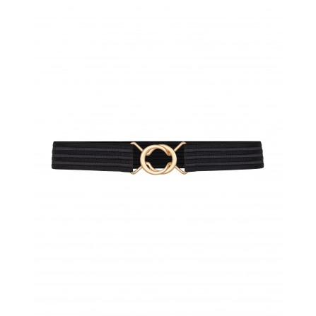 Co'couture Black Row Elastic Belt 99064
